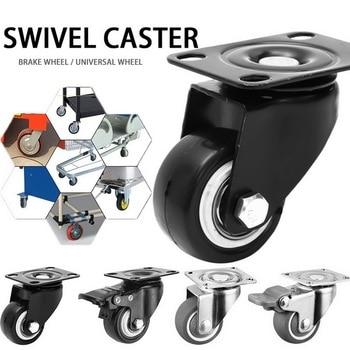 80kg4pcs rodas rodízios móveis rodízios rodízios de borracha macia roda de rolo prata para plataforma cadeira do trole acessórios domésticos