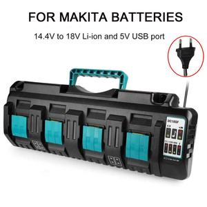 4A Double Li-Ion Battery Charger DC18RD DC18SF For Makita 14.4V 18V 20V Lithium Battery BL1830 BL1840 BL1850 BL1860 Bl1430(China)