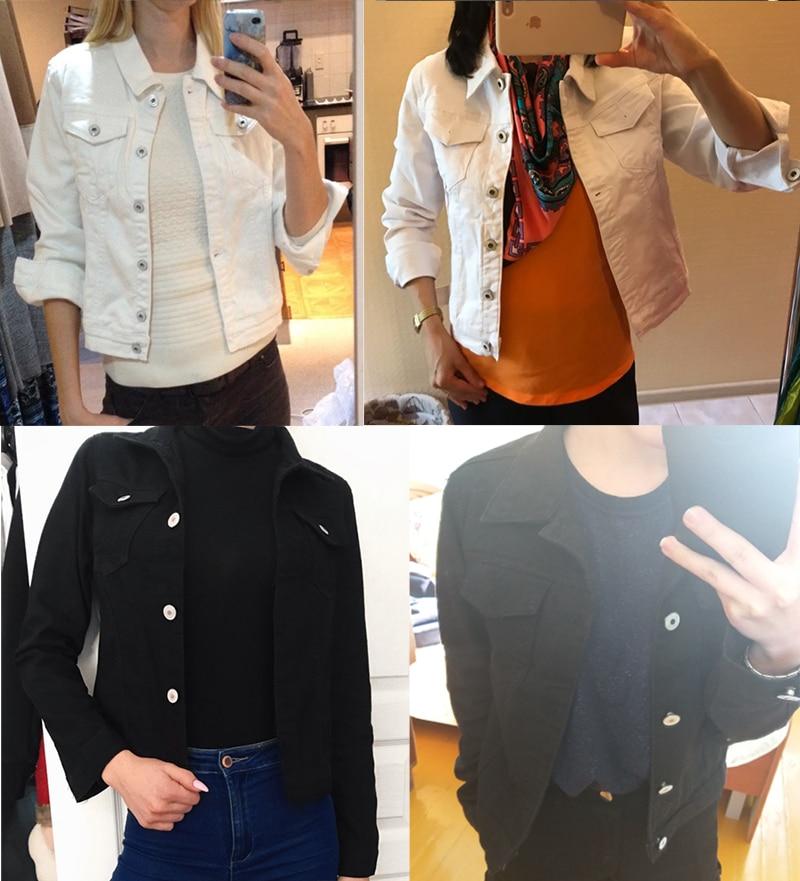 Jeans Jacket and Coats for Women 19 Autumn Candy Color Casual Short Denim Jacket Chaqueta Mujer Casaco Jaqueta Feminina 17