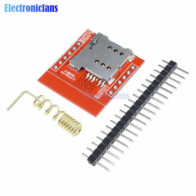 Più Piccolo SIM800L Gsm Gprs Modulo di Alimentazione Del Modulo Microcontrollore Bordo di Centro di Carta di Microsim Quad-Band Ttl Porta Seriale E Pcb antenna
