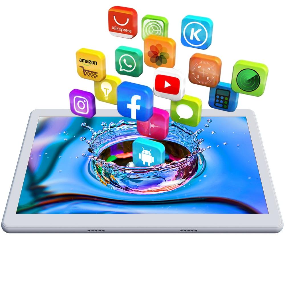 כיריים שניי להבות ANRY 10 אינץ Tablet Android 7.0 64 GB אחסון אוקטה Core processo צג IPS HD Wi-Fi Bluetooth שחור / זהב / כסף 4G התקשר לטלפון (2)