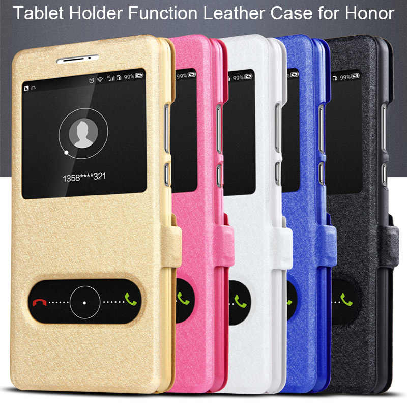Tablet Holder Case for Huawei Honor 9 Lite 5X 6X 7X 8X Leather Case for Honor 4A 5A 6A 5C 6C Pro Case on Honor 8 Lite 7 Note 10
