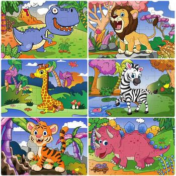 6PCS 20 Puzzles in 1 Kids Paper Puzzles Toys Animals Educational Puzzle Children Puzzles Learning Toys фото