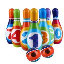 1 conjunto grande plutônio sólido jogo bola de boliche portátil crianças esportes plaything