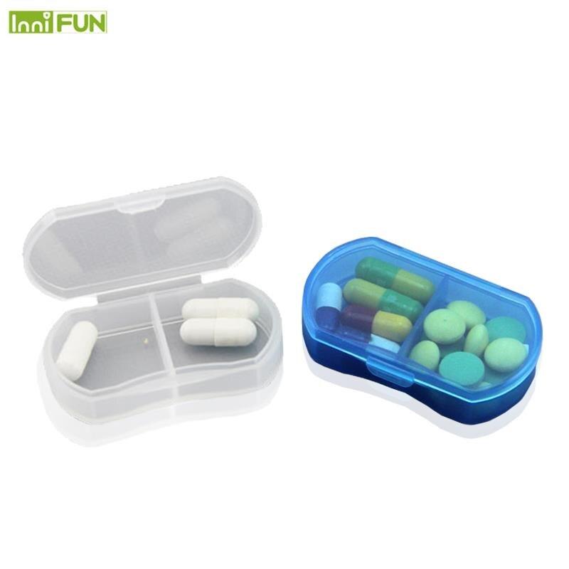 2 Grids Mini Pill Box Portable Pills Medicine Drugs Case Box Secret Stash Pill Container Tool