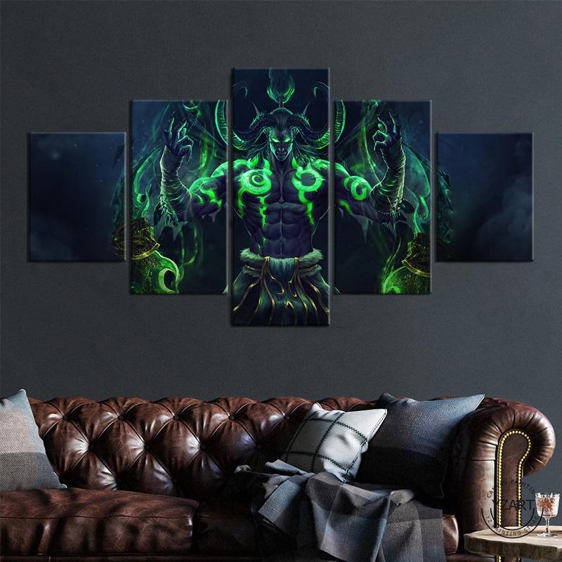 Illidan Stormrage игровой постер World of Warcraft Рисование искусства HD холст картины настенное искусство для домашнего декора без рамки