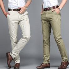Костюм брюки мужские деловые Брюки Офисные повседневные брюки мужские классические брюки pantalones hombre TJWLKJ