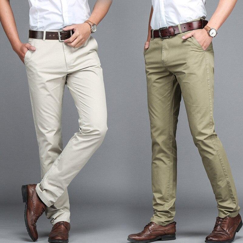 Suit Pants Men Dress Pants Men Business Trousers Office Casual Social Pants Men's Classic Trousers Pantalones Hombre  TJWLKJ