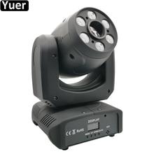 Светодиодный прожектор с движущейся головкой 100 Вт, диджейский контроллер дискотеки, светодиодный светильник 6 шт. Cree RGBW 4 в 1, светодиодный мини светильник с движущейся головкой