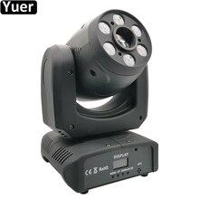 100W LED Spot Moving Head Licht DJ Disco Controller LED Lampe Licht 6 stücke Cree RGBW 4IN1 Waschen Strahl mini LED Moving Head Par Lichter