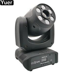 Image 1 - Projecteur de lumière à tête mobile 100W LED avec faisceau de lavage, Cree 4 en 1, 6 pièces de lumière pour Disco DJ lampe à LED