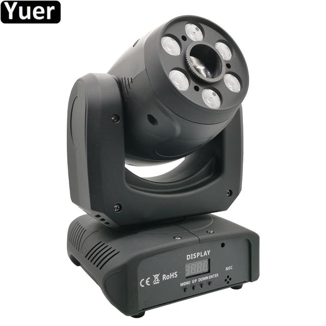 Projecteur de lumière à tête mobile 100W LED avec faisceau de lavage, Cree 4 en 1, 6 pièces de lumière pour Disco DJ lampe à LED