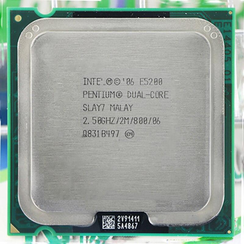 For Intel Pentium Dual-Core E5200 CPU Processor (2.5Ghz/ 2M /800GHz) Socket 775 Free Shipping