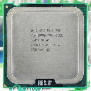 Para intel pentium duplo-núcleo processador e5200 cpu (2.5 ghz/2 m/800 ghz) soquete 775 frete grátis