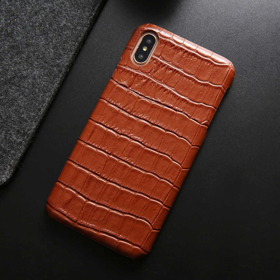 Cho Iphone XS Max Ốp Lưng Cao Cấp Vân Cá Sấu Chính Hãng Da Trong Cho iPhone X XR XS 6 6S 7 8 Plus 7 + 8 + Tặng Túi Đựng Điện Thoại Coque