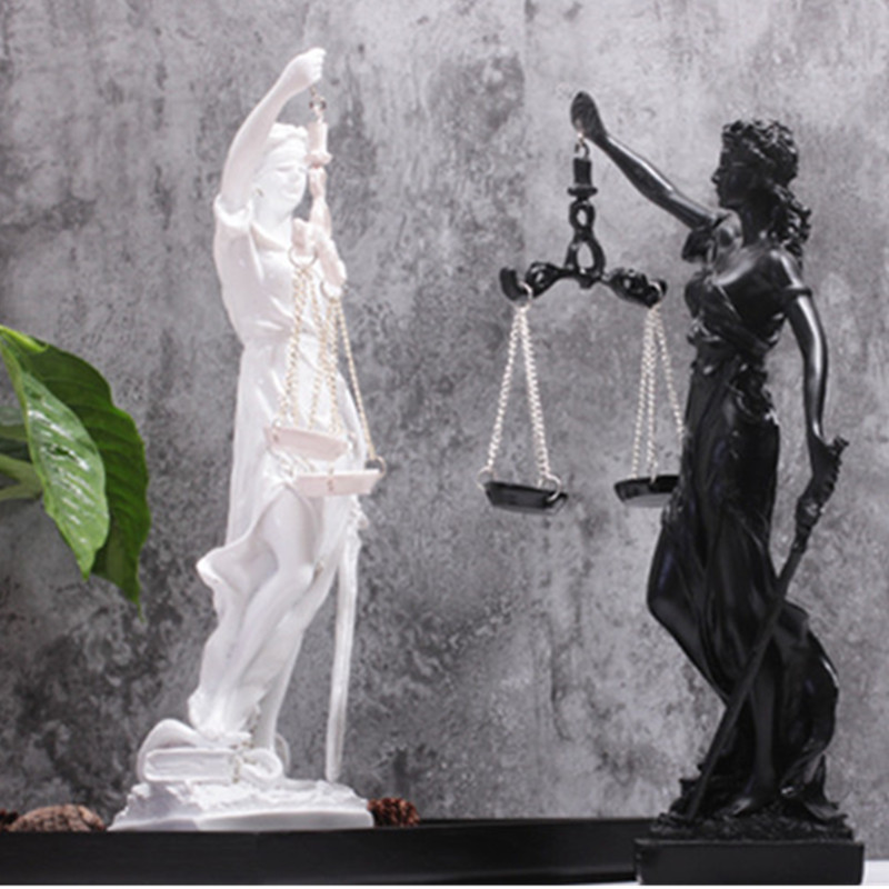 Greek Justice Goddess Statue/Fair Angels Resin Sculpture,People Ornaments,Vintage Home Decoration Accessories,Office Crafts A763