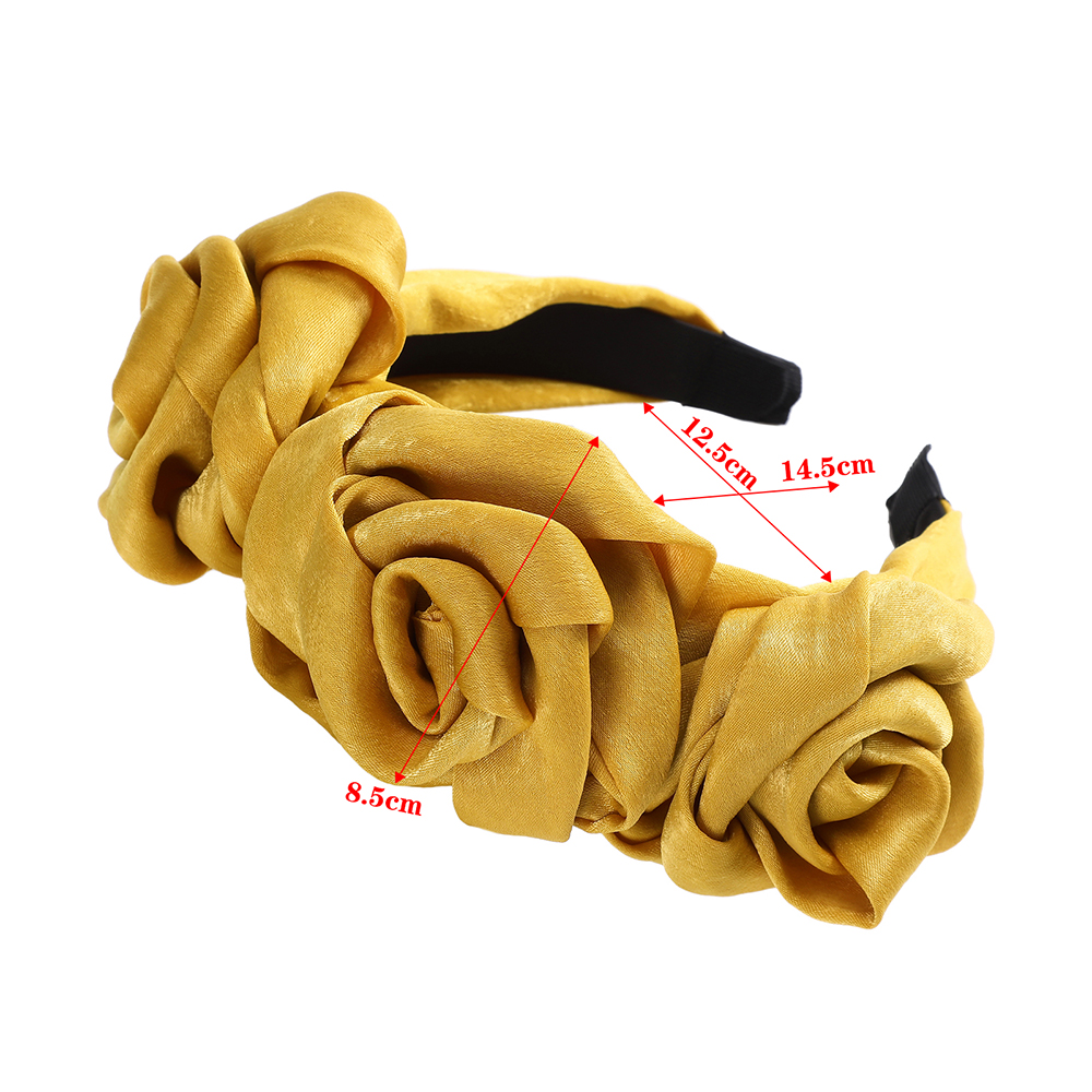 AWAYTR Headband Women Hair-Accessories Decoration Hair-Loop Flower-Fabric Floral-Bud
