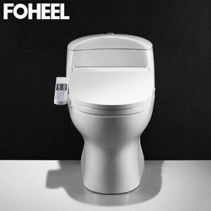 Image 5 - FOHEEL New Intelligent Toilet Seat Gold Silver Side Panel Control Electric Bidet Smart Bidet Heating Dry Massage for Wc