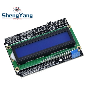 1PCS ShengYang LCD Keypad Shield LCD1602 LCD 1602 Module Display ATMEGA328 ATMEGA2560 raspberry NO blue screen(China)