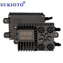 SUKIOTO 2PCS AC Xenon 200W High Power HID Slim Conversion Ballast Reactor For Auto Xenon Headlamp Bulbs H1 H3 H7 H11 HB3 HB4