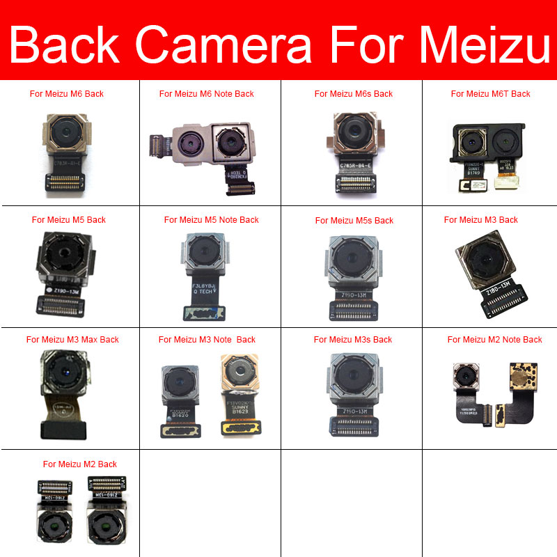 Rear Camera Module For Meizu M2 M3 M3s M5 M5s M6s M6 M6T Note L861H M681Q M681C M681H Max Main Back Big Camera Flex Ribbon