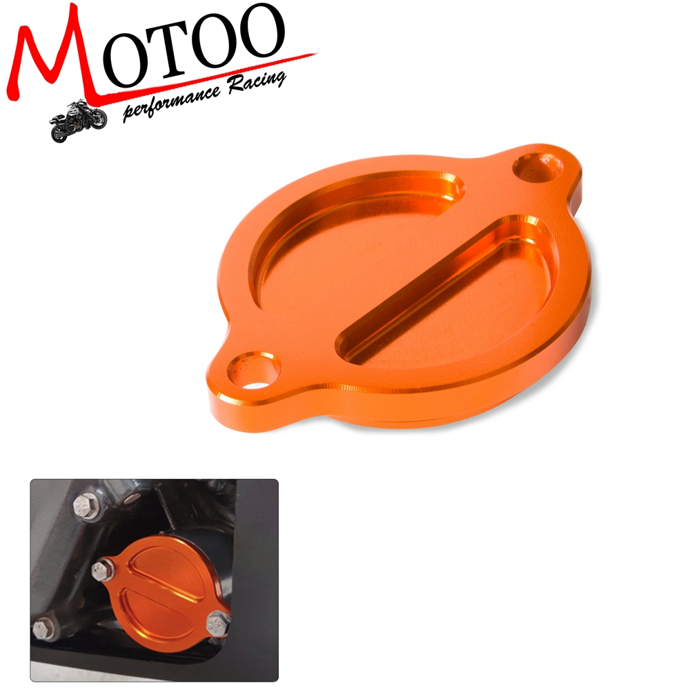 Motorcycle Engine Filter Cover Cap CNC Aluminum for KTM Duke 125 200 390 2013 2014 2015 2016 image