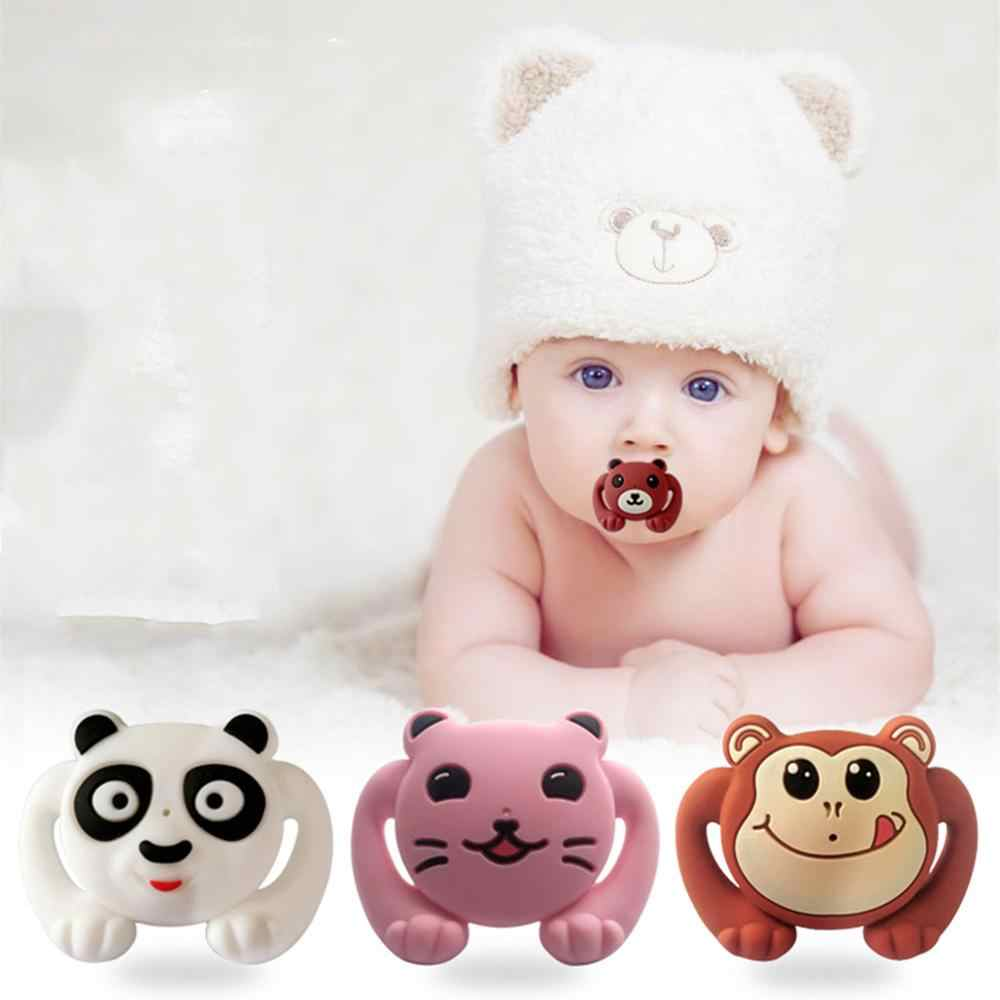 1pcs Lovely Animals Pacifier Food Grade Silicone Funny Baby Dummy Nipple Teethers Toddler Orthodontic Soothers Teat Baby Gift