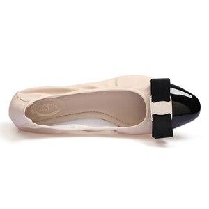 Image 5 - Женские балетки на плоской подошве, лоферы из искусственной кожи с круглым носком, на резиновой подошве, 2019
