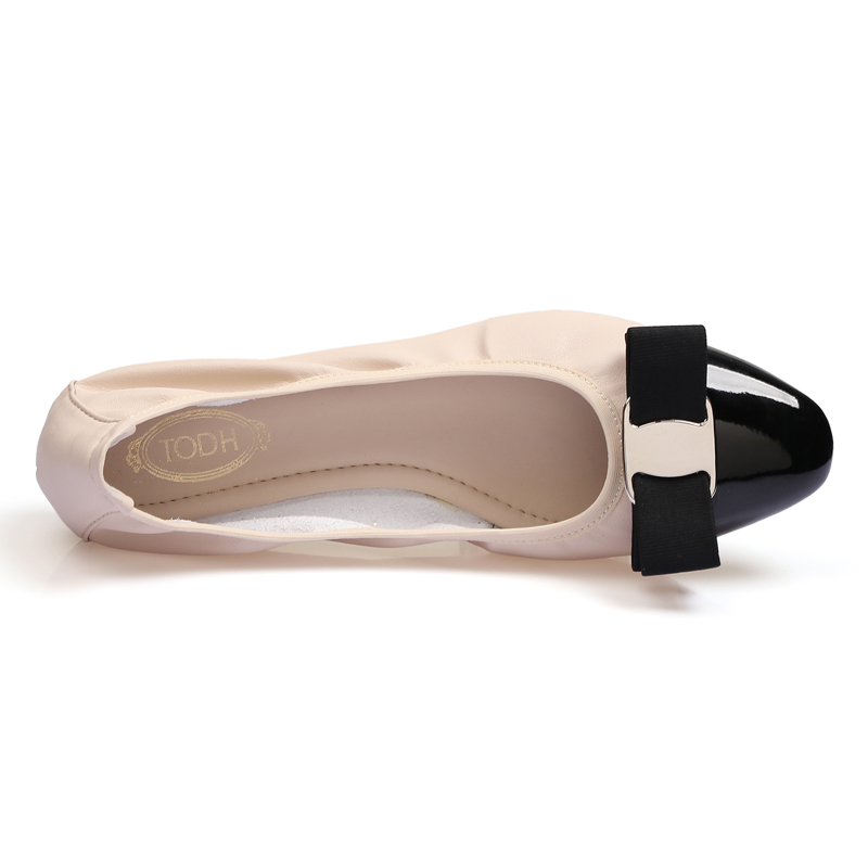 Image 5 - Shoes Woman Sapato Feminino Zapatos Mujer 2019 Loafers Women Ballerina Femme Women flat Shoes Ballet flats Round Toe Rubber PUWomens Flats   -