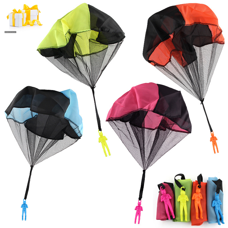 4PCS Hand Throwing Mini Soldier Parachute Funny Kids Toy Outdoor Game Play Educational Toys Fly Parachute Sport For Children Toy