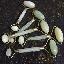 1pc Facial Massage Roller Double Heads Jade Roller Stone Face Lift Hands Body Skin Relaxation