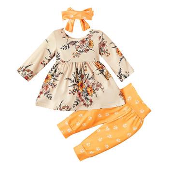Zimowe dziewczyny ubrania dziewczyny zestawy maluch dzieci dziewczynek topy Bowknot spodnie w kwiaty opaski ubrania kostium dzieci dzieci Siuts tanie i dobre opinie ARLONEET COTTON 13-24m 25-36m 3-6y Kobiet Moda O-neck Sweter Pełna Pasuje prawda na wymiar weź swój normalny rozmiar