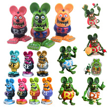 RAT FINK Luminous Ratfink Mouse Figure Action Sidewalk Surfer Skateboard Ed Big Daddy Roth Collectible Model Toy Christmas gift