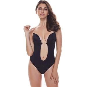 Image 3 - Женское нижнее белье с открытой спиной Burvogue, боди с глубоким вырезом, невидимое нижнее белье для платья