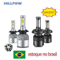 Brazil Stock Car headlight H7 LED H4 H1 9007 9005 H3 H13 9004 880 72W 8000LM 12V Auto Headlamp 6500K Light Bulb silver gunmetal