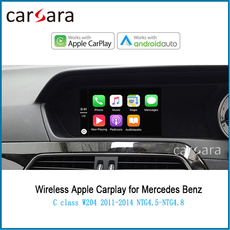 Merce des Wireless CarPlay Android Auto für C Klasse <font><b>W204</b></font> AirPlay Phonelink Box 2011- 2014 NTG 4,5 System Stimme control interface image