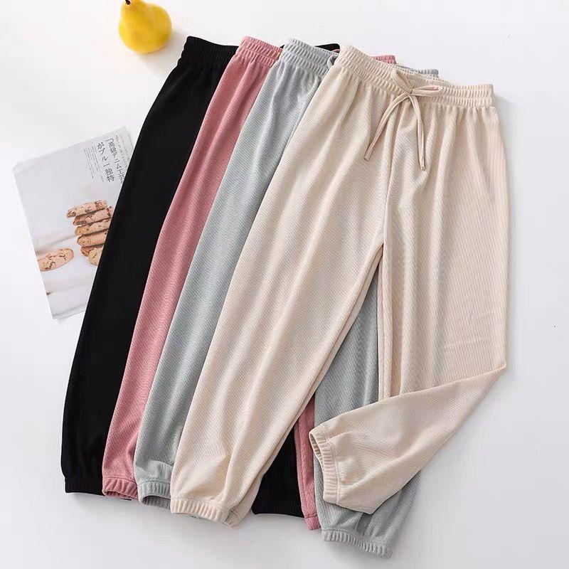HOUZHOU Summer Trousers Women 2020 Summer Korean Style Sweat Pants Bunch Legs Harem Pants Women Joggers Loose Casual Fashion