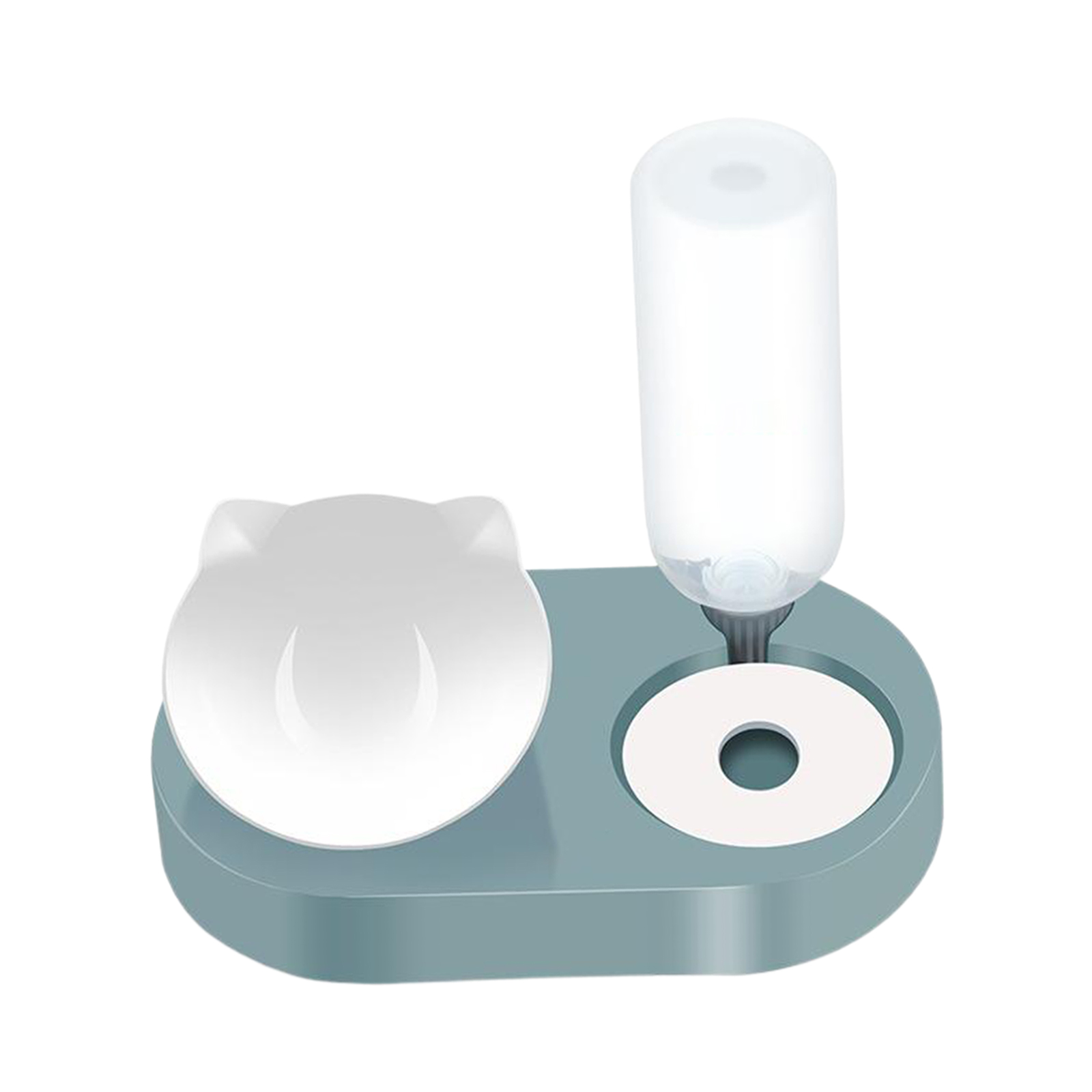 Pet Bowl Automatic Feeder Dog Cat Bowl with Water Dispenser Double Bowl Drinking Raised Stand Dish Bowls with Pet Supplies