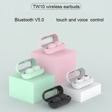 TW10 TWS Mini wireless Headphones Waterproof sport earbuds Noise Reduction Earpieces For xiaomi huawei iphone Bluetooth earphone