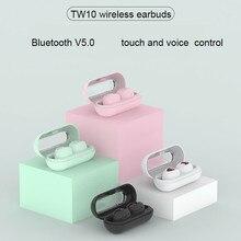 TW10 TWS מיני אלחוטי אוזניות עמיד למים ספורט אוזניות הפחתת רעש אוזניות לxiaomi huawei iphone Bluetooth אוזניות