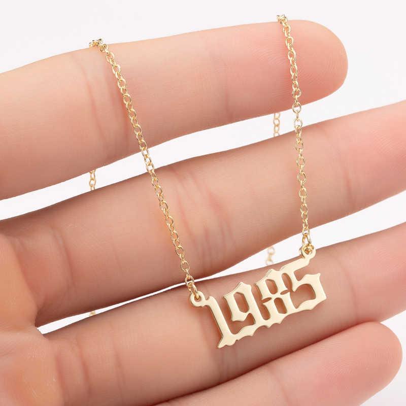 Jisensp الفولاذ المقاوم للصدأ قلادة قلادة تصميم فريد عيد ميلاد السنة المختنق القلائد مجوهرات الأزياء للنساء الاطفال أفضل هدية
