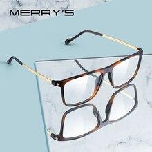MERRYS lunettes de luxe TR90 pour hommes, montures, Vintage, verres pour myopie, Prescription, S2817