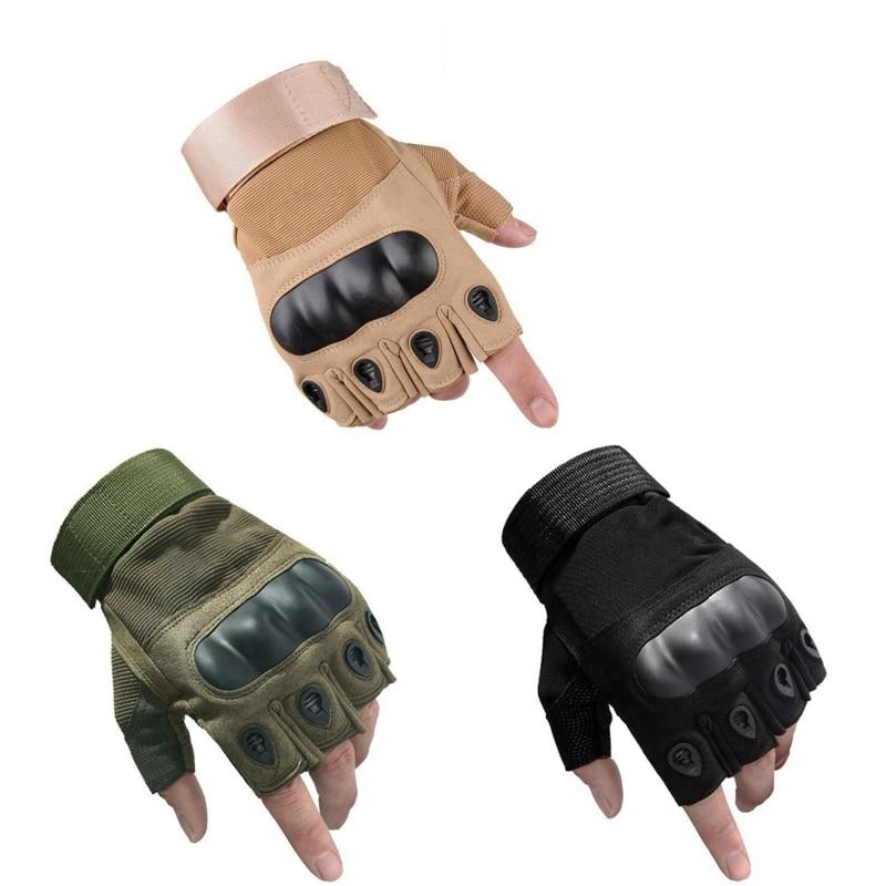 New Half Finger Gloves Tactical Combat Fingerless Gloves Anti-Slip Carbon Fiber Shell  For Military Paintball Outdoor Sports