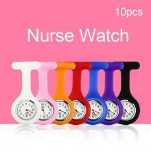 Доктора и медсестры носят случайный цвет силиконовые модные простые Повседневная брошь карманные кварцевые движения подарочные часы Reloj mujer