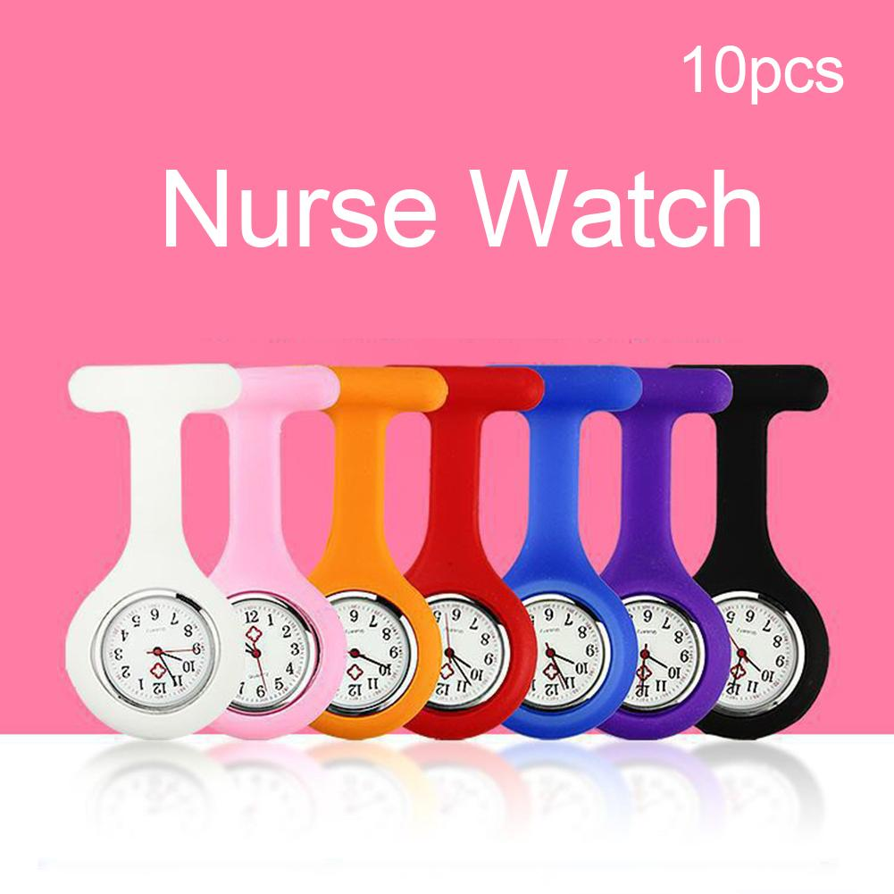Doctors And Nurses Carry Random Color Silicone Fashion Simple Casual Brooch Pocket Fob Quartz Movement Watch Gift Reloj Mujer