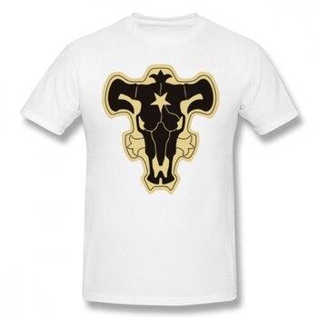 Black Clover T Shirt Black Clover Black Bulls T-Shirt Funny Tee Shirt Fashion 100% Cotton Short Sleeves Mens Graphic Tshirt