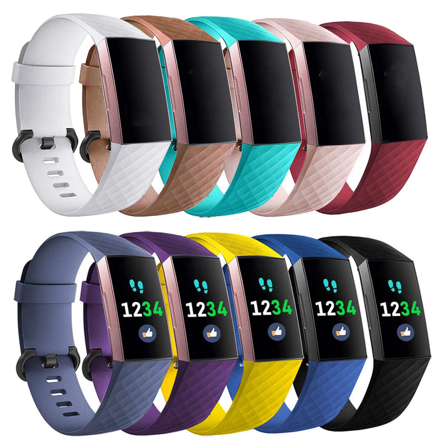 Colorful Wristband For Fitbit Charge 3 Band Silicone Bracelet For Fitbit Charge 3/3SE Replacement Band For Fitbit Charge 3 Strap