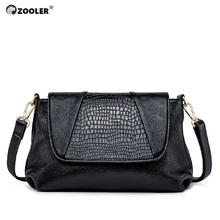 ZOOLER Fashion Elegant Genuine Leather Womens Handbags Ladies Shoulder Bags Black Cow Soft Crossbody Bag tote #L120