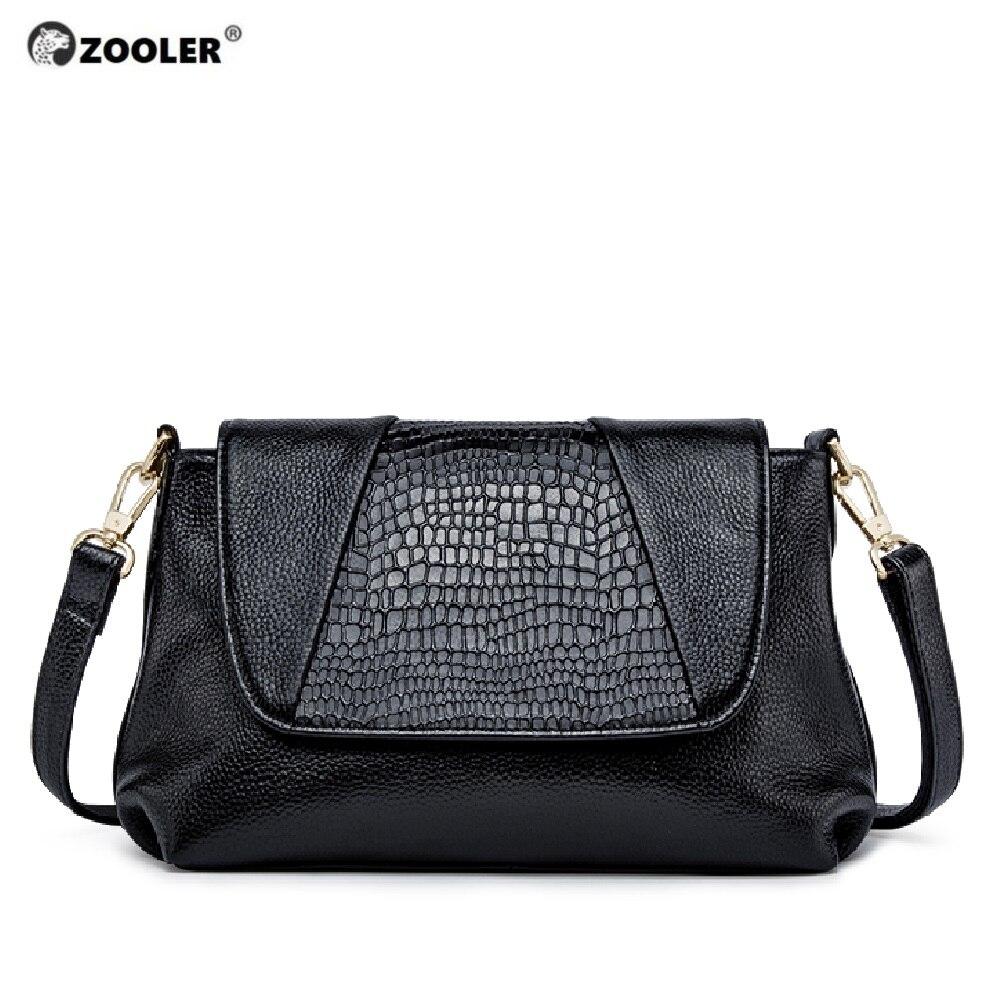 ZOOLER Mode Elegant Lederen vrouwen Handtassen Dames Schoudertassen Zwart Koe Lederen Zachte Crossbody Tas tote # L120 - 2