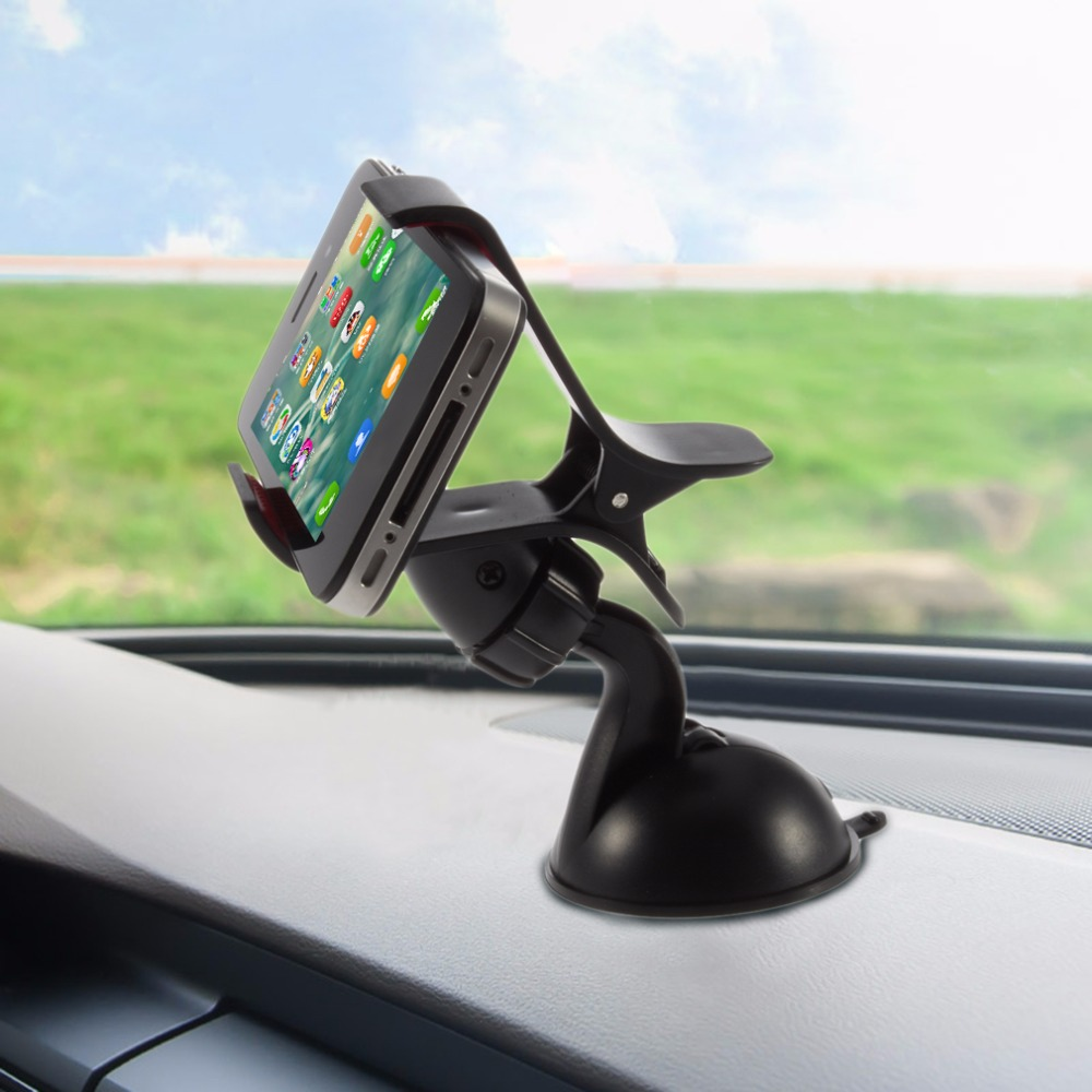Universal Car Vehicle Auto Windshield Mount Durable Plastic Holder Bracket For Hand Phones Mobile Phones